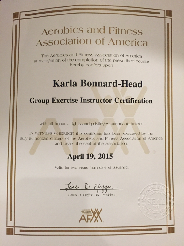 Afaa Group Fitness Certification My Journey From Fluff To Buff